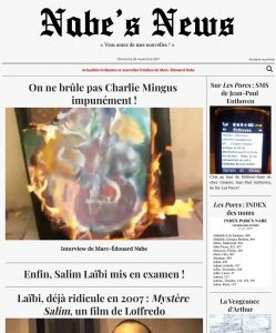 Nabe's News - Numéro 8 - Salim Laïbi - Yves Loffredo - Jean Robin - Jean-Paul Enthoven - Raphaël Zacharie de Izarra - Safa Ben Daoud - Virginie de Clausade