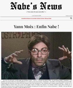 Nabe's News - Numéro 22 - Yann Moix