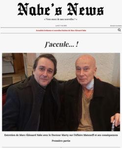 Nabe's News - Numéro 25 - Gabriel Matzneff - Covid-19 - Salim Laibi - Yves Loffredo - Pierre Bénichou - Thomas VDB - Yann Moix - David Vesper