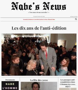Nabe's News - Numéro 27 - Anti-Edition - David Vesper - Jonathann Daval - Salim Laibi - Raffael Enault
